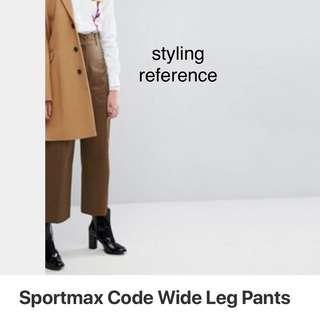Sportmax brown wide leg pants