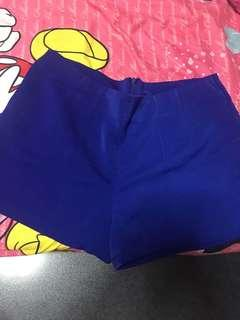 Size XL electric blue shorts