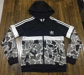 Adidas Originals Itasca Camo Poly Full Zip Hoodie Junior
