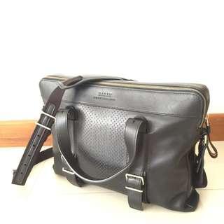 Bally Velag Black Calf Leather Sling Bag