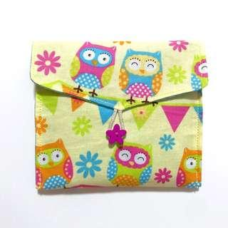 🚚 Sanitary Pouch (Owl with button)