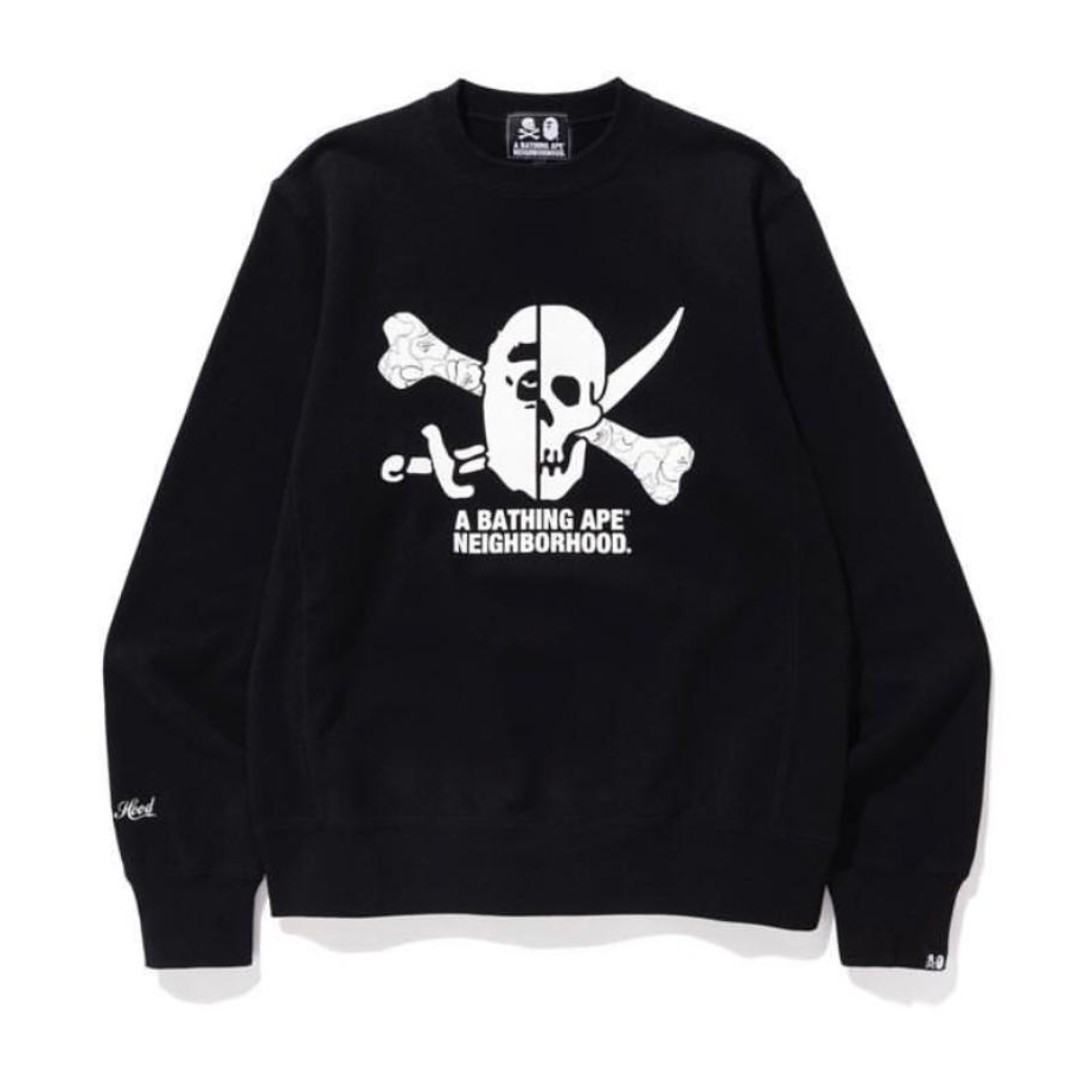 84de7e4e A BATHING APE® x NEIGHBORHOOD crewneck SIZE L, Men's Fashion ...