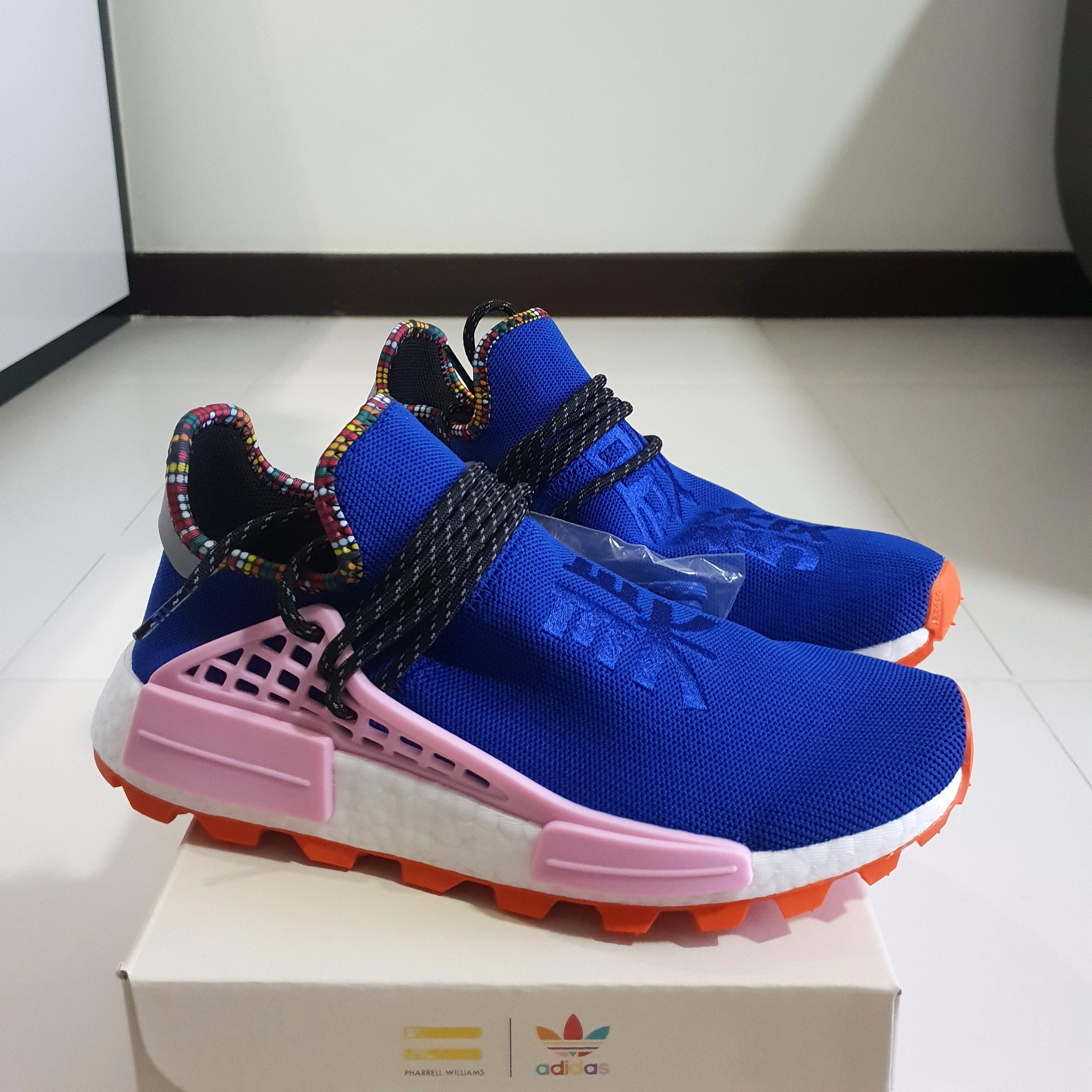 lowest price 93e47 3b881 Adidas NMD Pharrell Williams PW Human Race Powder Blue Orange Inspiration  Pack, Men s Fashion, Footwear, Sneakers on Carousell