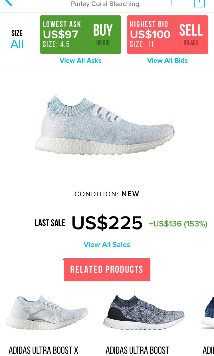 a05be55053fb5 Adidas Ultra Boost Uncaged Parley Icey Blue