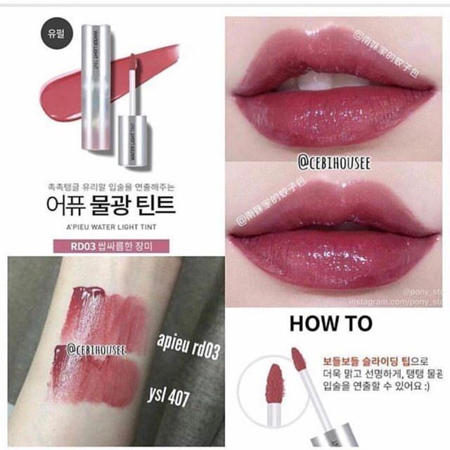 A'peiu Water Light Tint #RD03 Dupe YSL #407