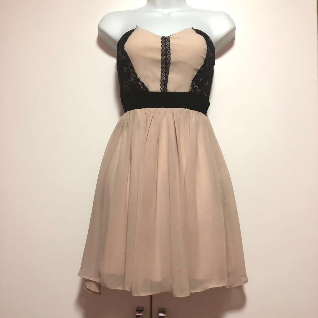 e3dc08058a64 ASOS Elise Ryan Bandeau Lace Dress, Women's Fashion, Clothes ...