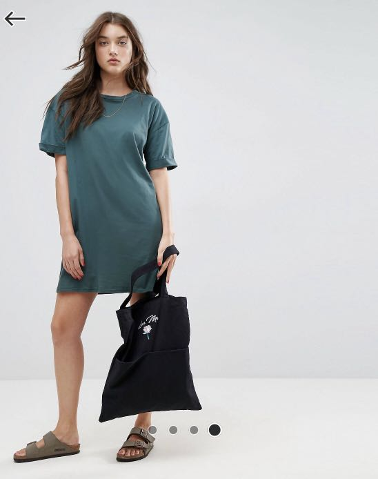 7096eb842de ASOS Ultimate T-Shirt Dress with Rolled Sleeves