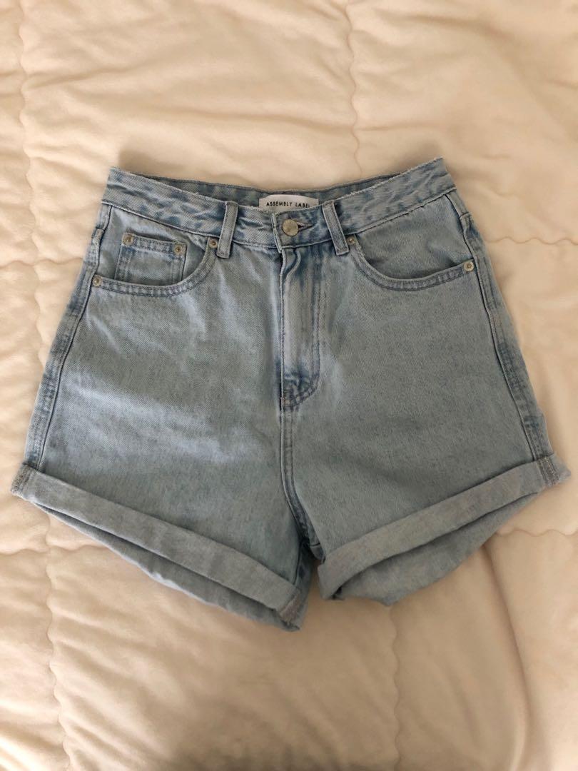 ASSEMBLY LABEL: Light Blue High Waisted Shorts (Size 8)