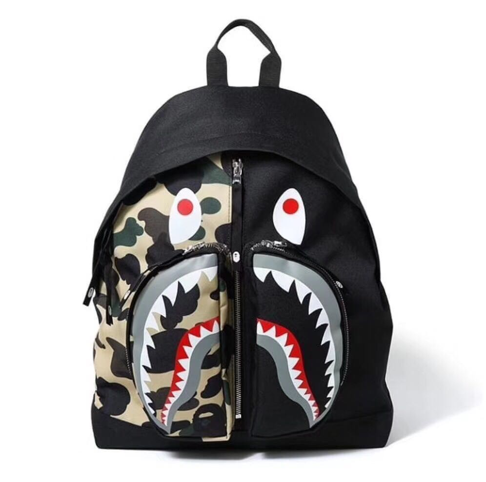 Bape Shark Backpack >> Bape Shark Camo Backpack