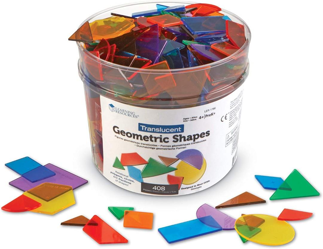 Brand New* Learning Resources Translucent Geometric Plastic