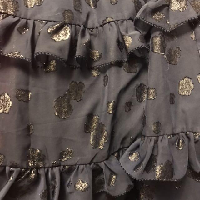 Brand new Michael kors Blue Tiered Ruffle Dress XS/S