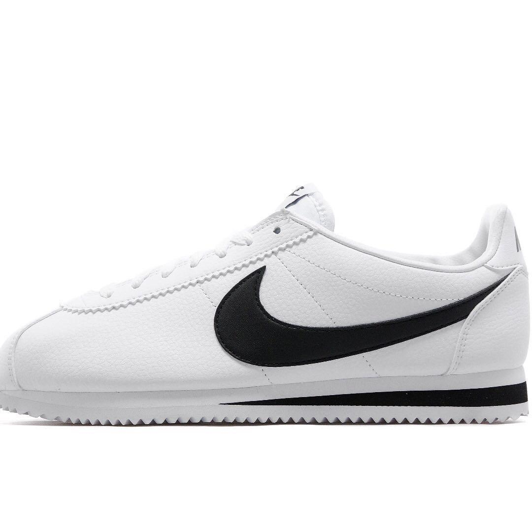 best value 100% top quality top brands brand new Nike cortez leather white black size UK 4 female ...