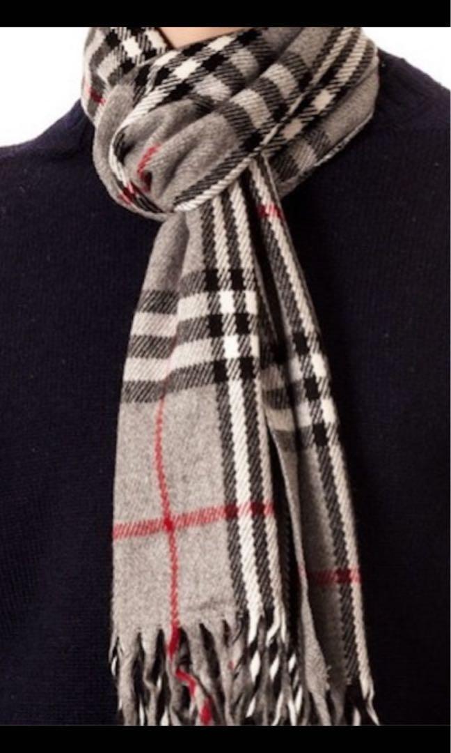 Burberry London 名牌頸巾 Made in England