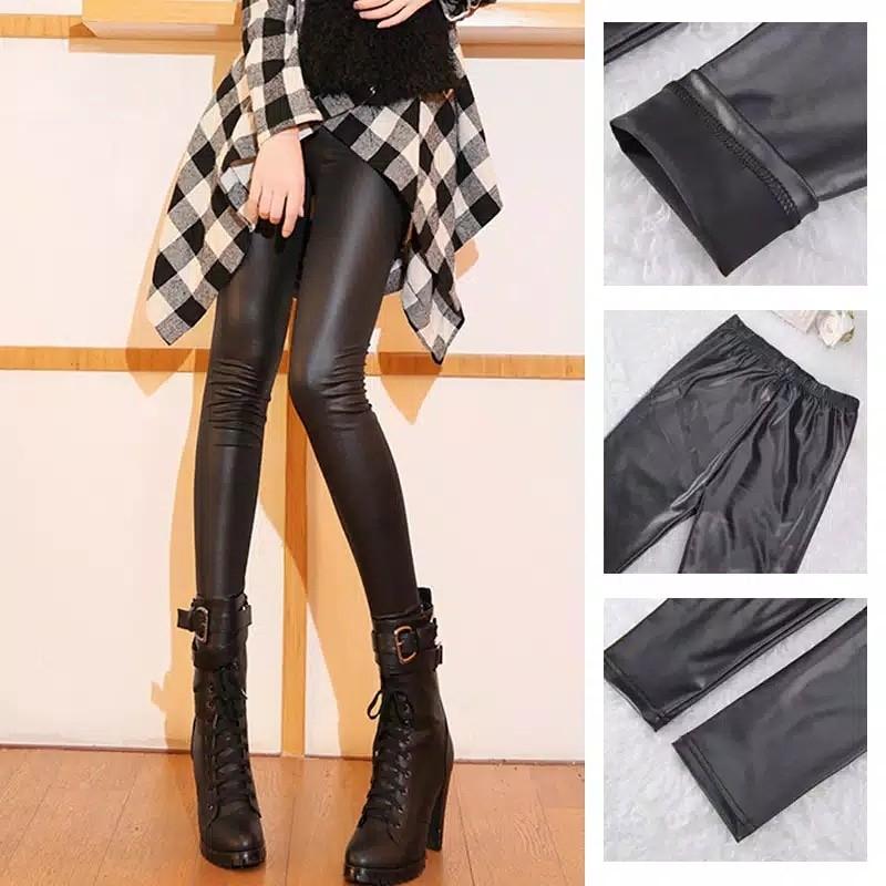 Celana Legging Kulit Fesyen Wanita Pakaian Wanita Bawahan Di Carousell