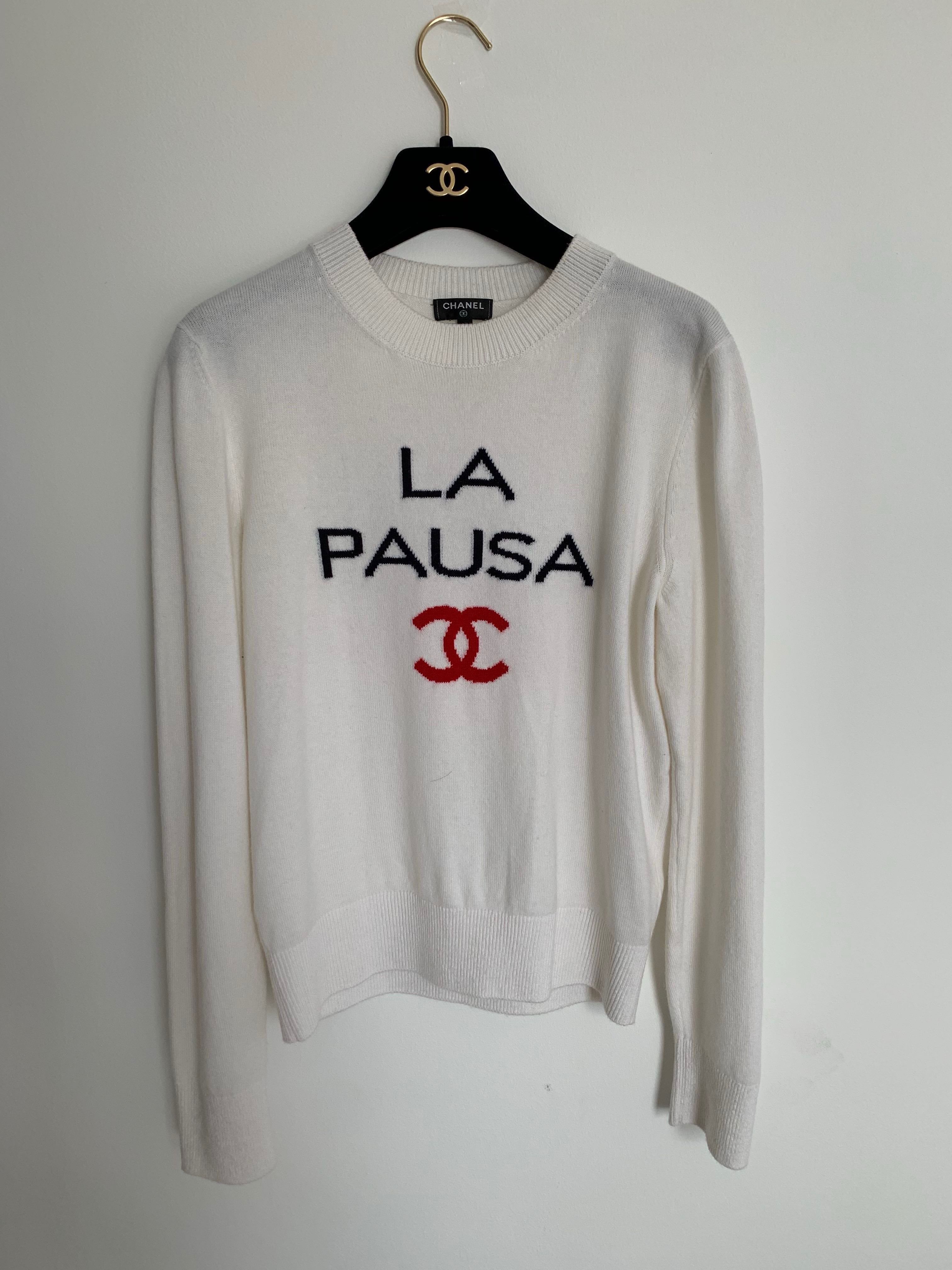 d37acad37b96 Chanel La Pausa Top, Luxury, Apparel, Women's on Carousell