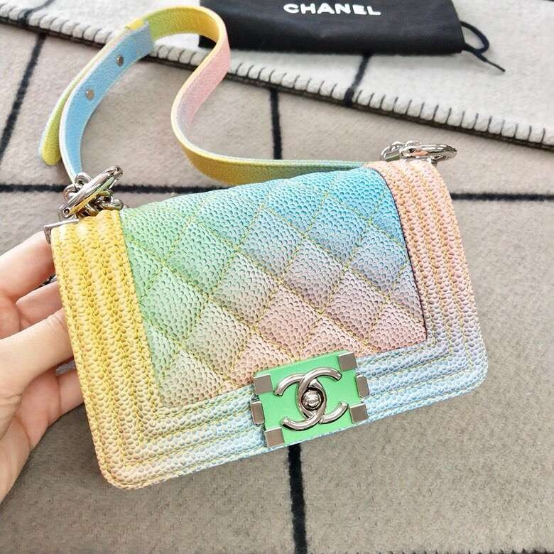 f97336b4963d Chanel leboy mini rainbow caviar, Luxury, Bags & Wallets on Carousell