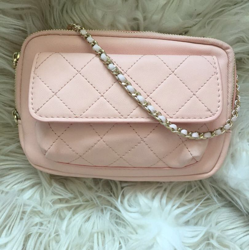 86dceef97350 Charles And Keith Sweet Pink Quilted Chain Small Handbag Sling
