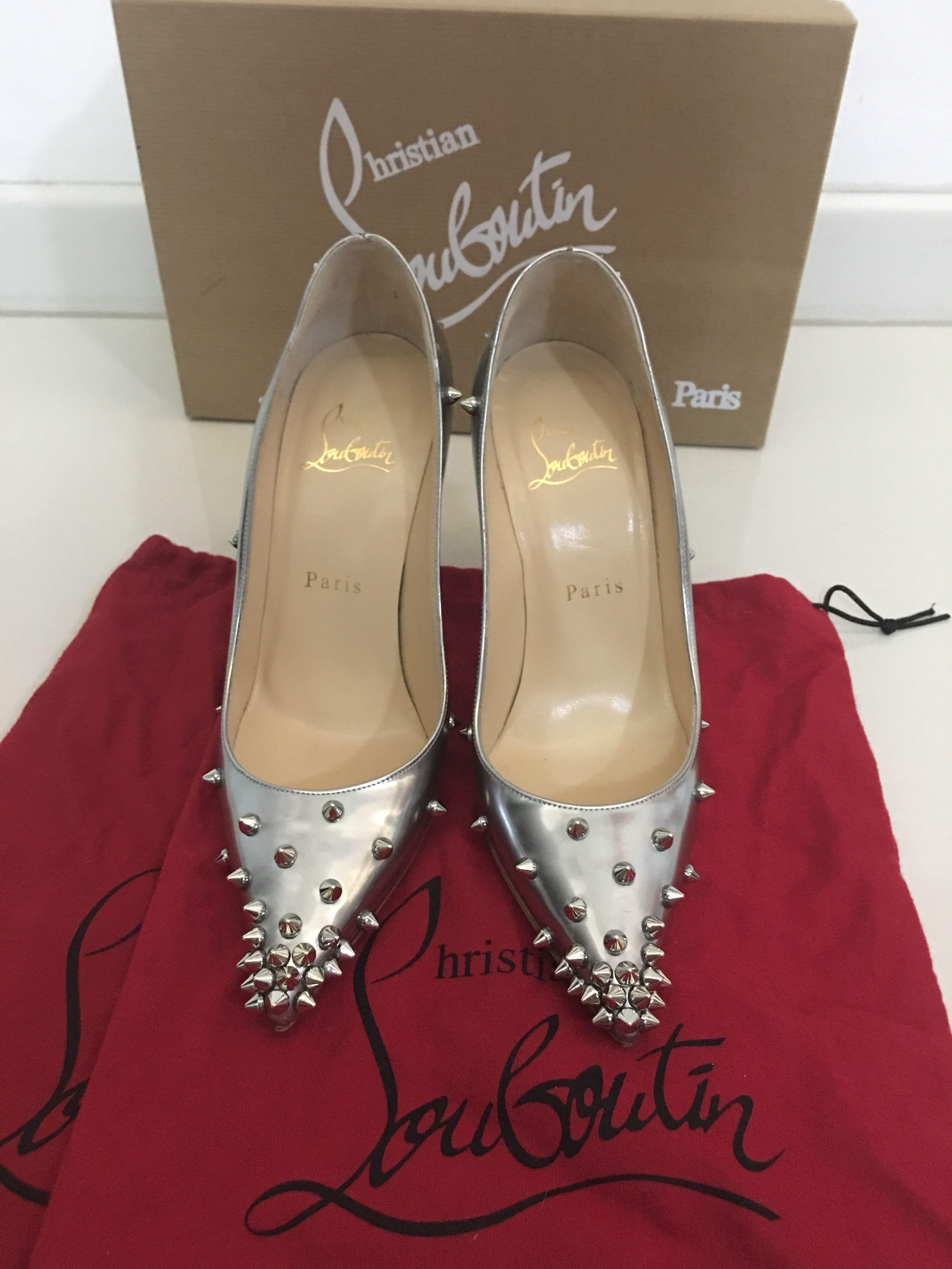 sale retailer bb38a ca550 Christian Louboutin 120mm Degraspike Studded Leather Pumps ...