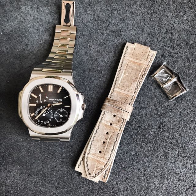 8e640a5438 Custom Made Watch Strap In Himalayan Crocodile For Patek Philippe ...