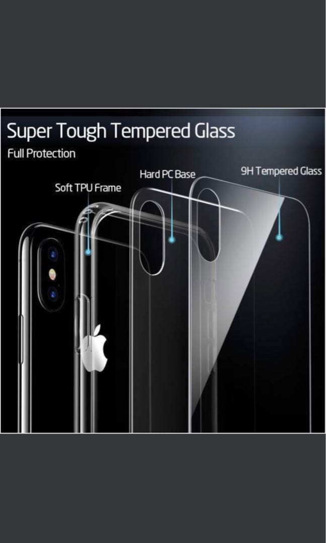 sports shoes 5e667 0ab5f ESR Mimic Tempered Glass Case for iPhone Xs Max/Xs/X