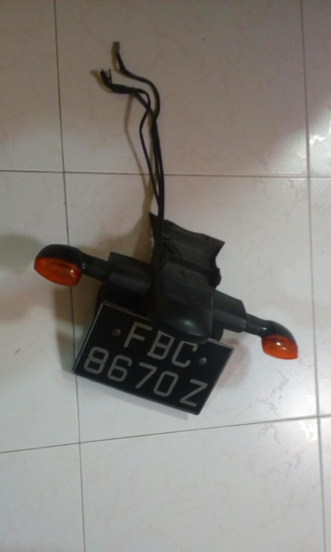 Fz6 S2 License Plate Holder With Signal Light Motorbikes Motorbike