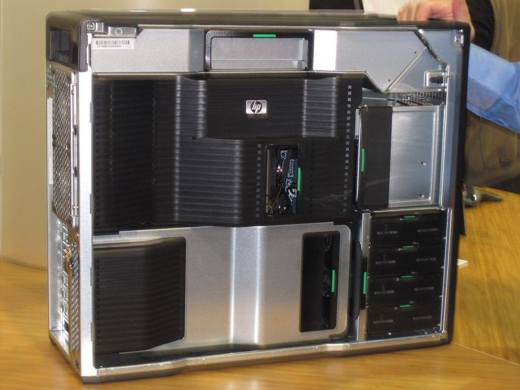 HP Z800 workstation with 2 Cpu operating, Electronics