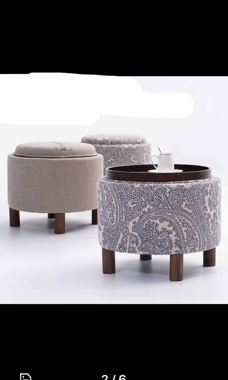 In stock! 2-in-1 convertible side table & storage ottoman