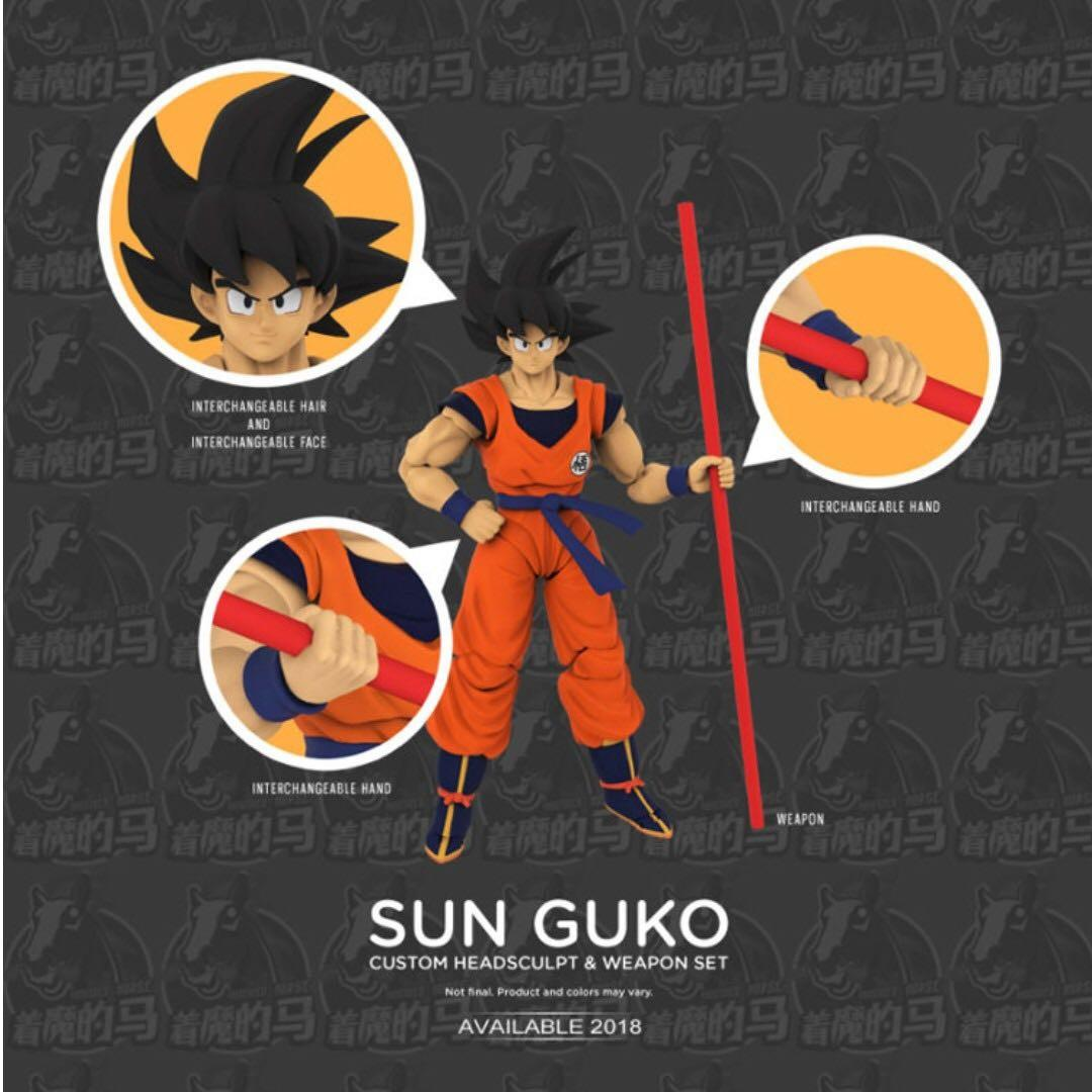 (In Stock) Demoniacal Fit, Son Goku Head Sculpt + Weapon set, Dragonball