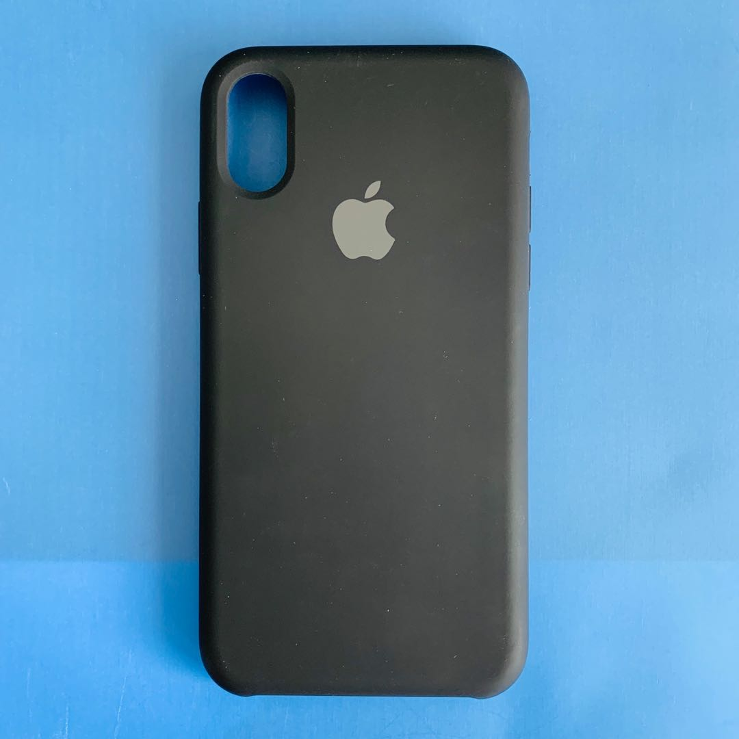 new product 895a0 ef010 IPHONE X/XS APPLE SILICONE CASE BLACK (IMITATION)