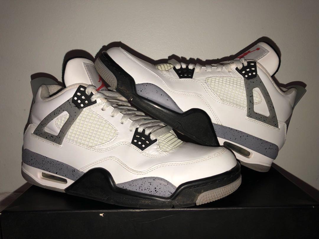 Nike Air Jordan IV 4 'White Cement' US9