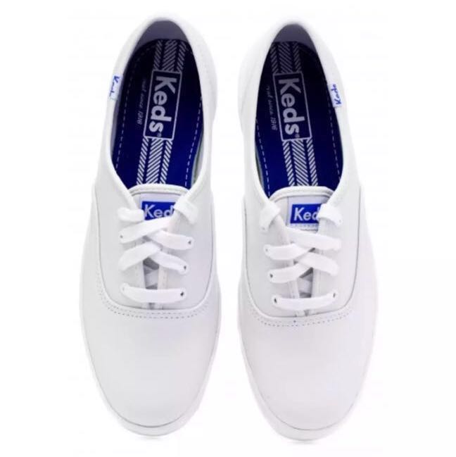13594e146d485 Keds Champion Core White Leather Shoes for Ladies