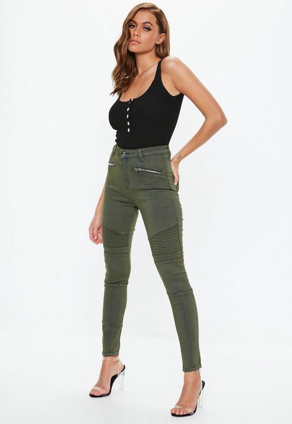 Khaki Missguided Jeans