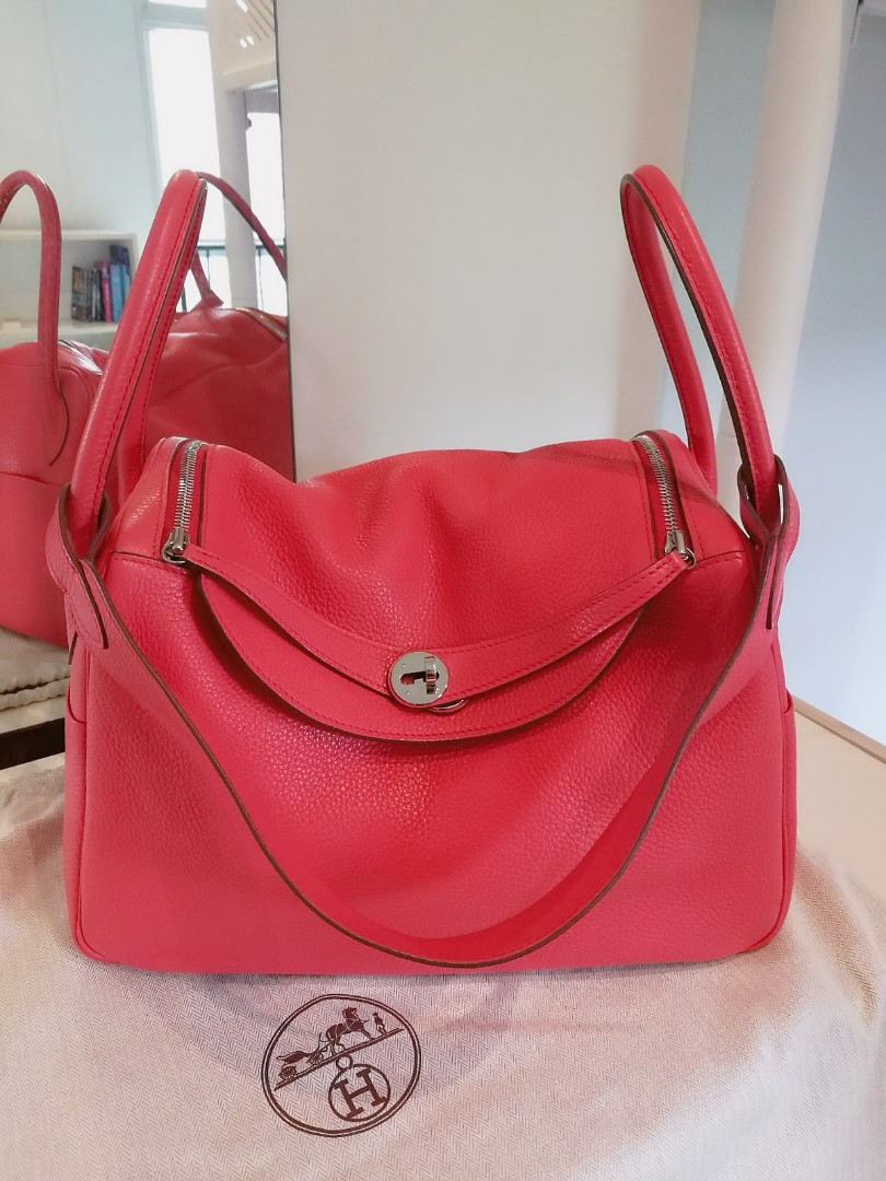 fb48b1bbf5e0 Like New Hermes Lindy 34 in Bougainville Clemence.