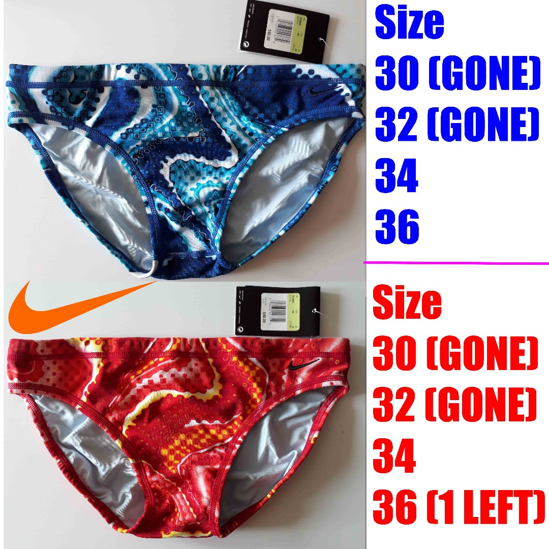d93c3a1526 Men's Nike Slither Skin Water Polo Swimsuit (Swimwear Swimming Trunks),  Sports, Sports Apparel on Carousell