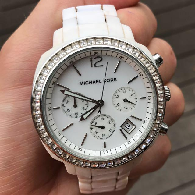 Michael Kors White Diamonds Watch