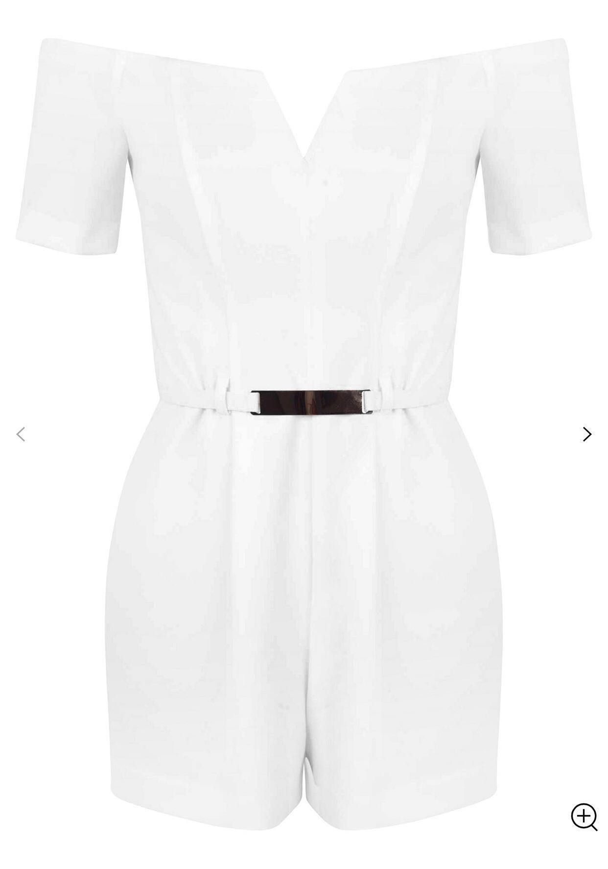 71b30141690 Miss Selfridge Petite Belt Detail Playsuit