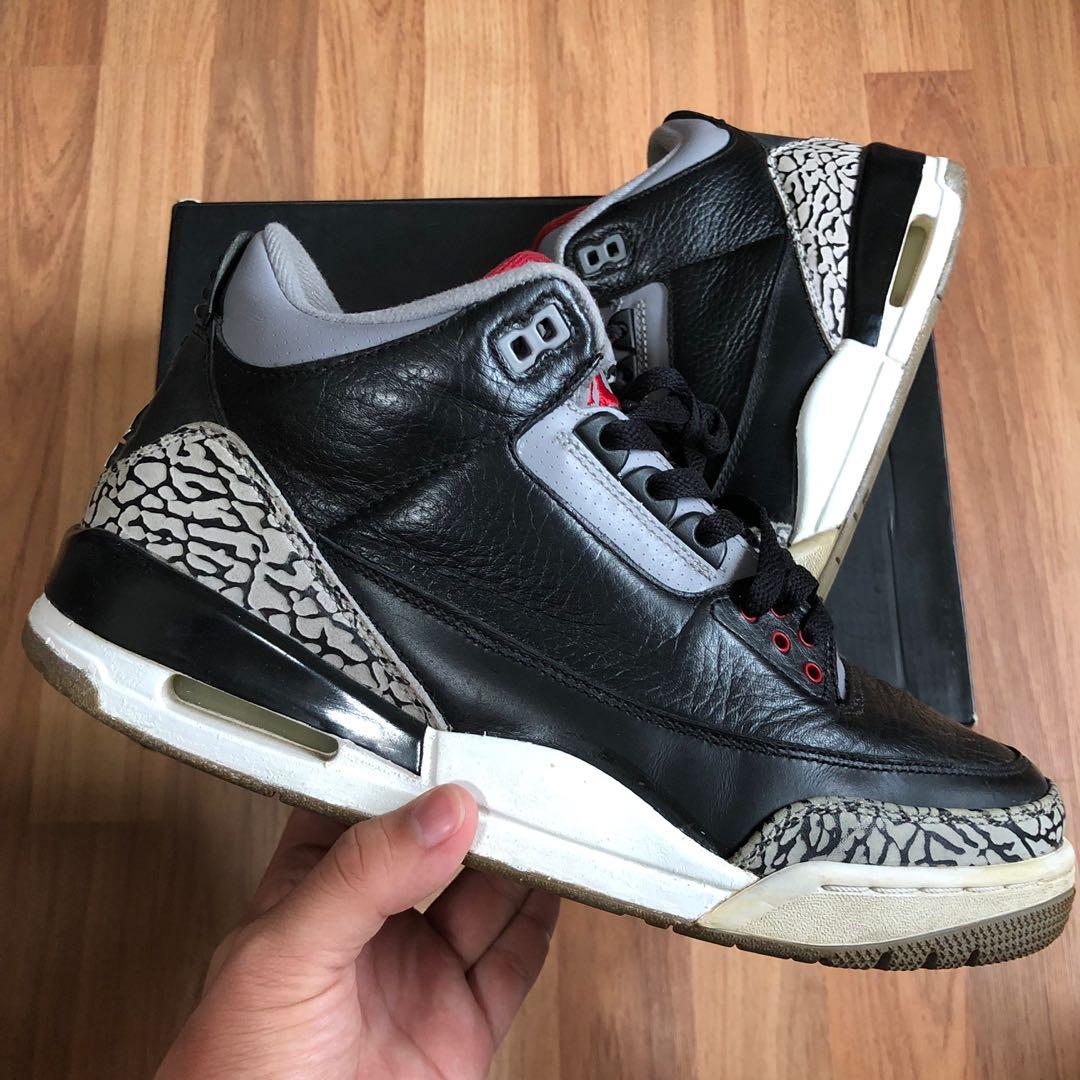 caf05cb25b2e Nike air jordan 3 black cements