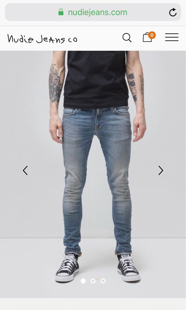 3287fc0fe352 Nudie Jeans Tight Terry Strikey Pale