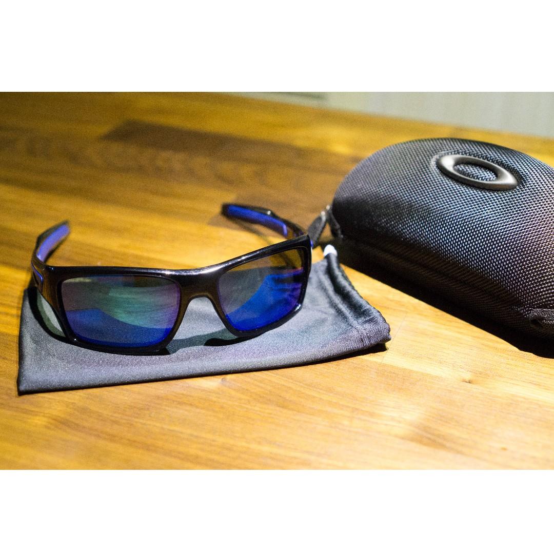 edad4bde51 Oakley TURBINE Sunglasses • Sapphire Iridium Lenses • Black Ink ...