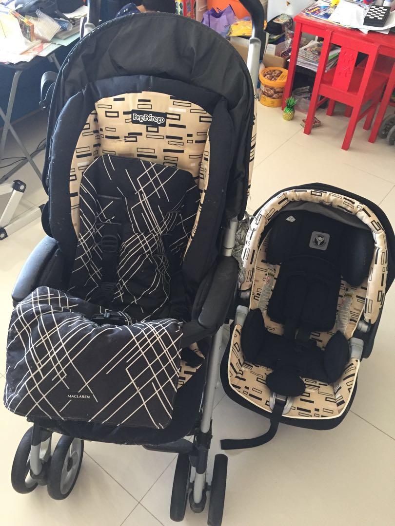 Peg Perago Stroller With Matching Car Seat