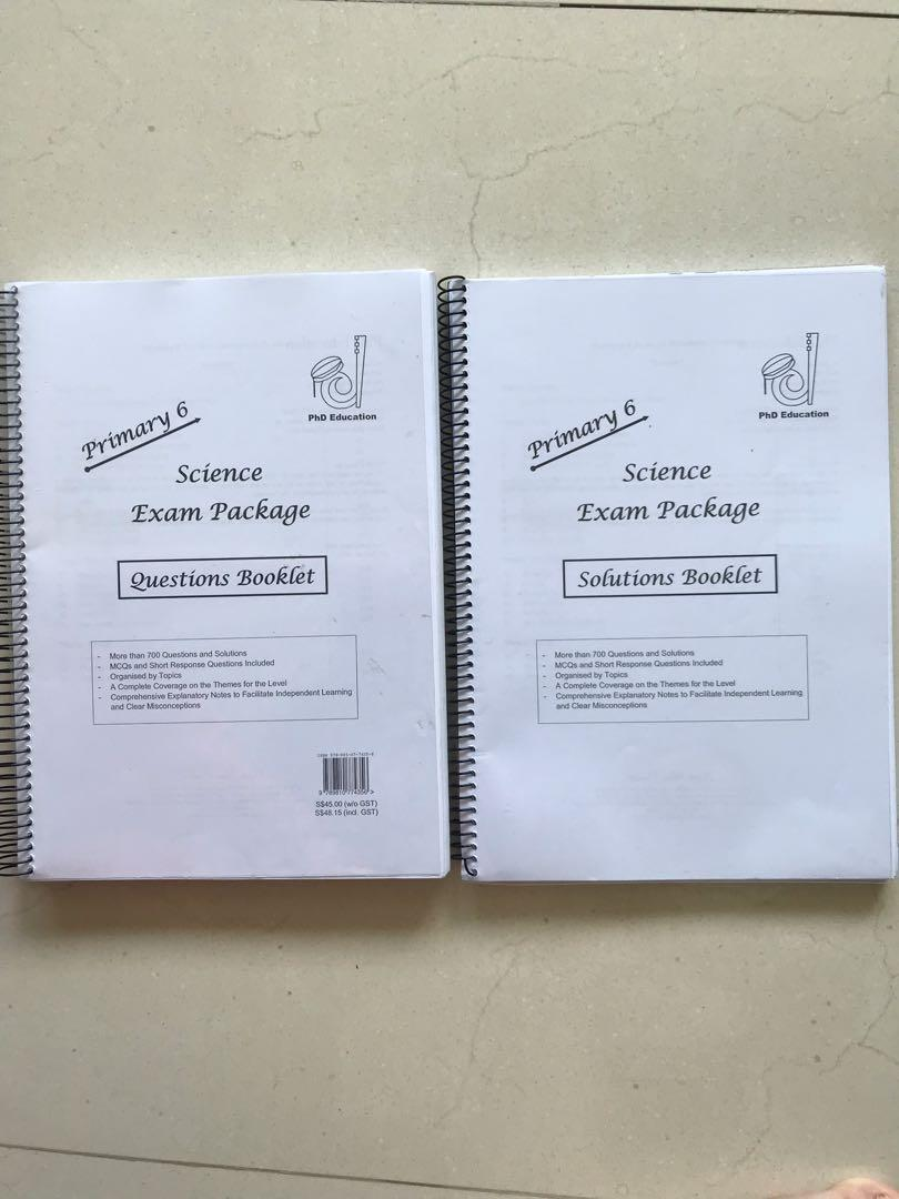 PhD Education Primary 6 Science Exam Package, Books