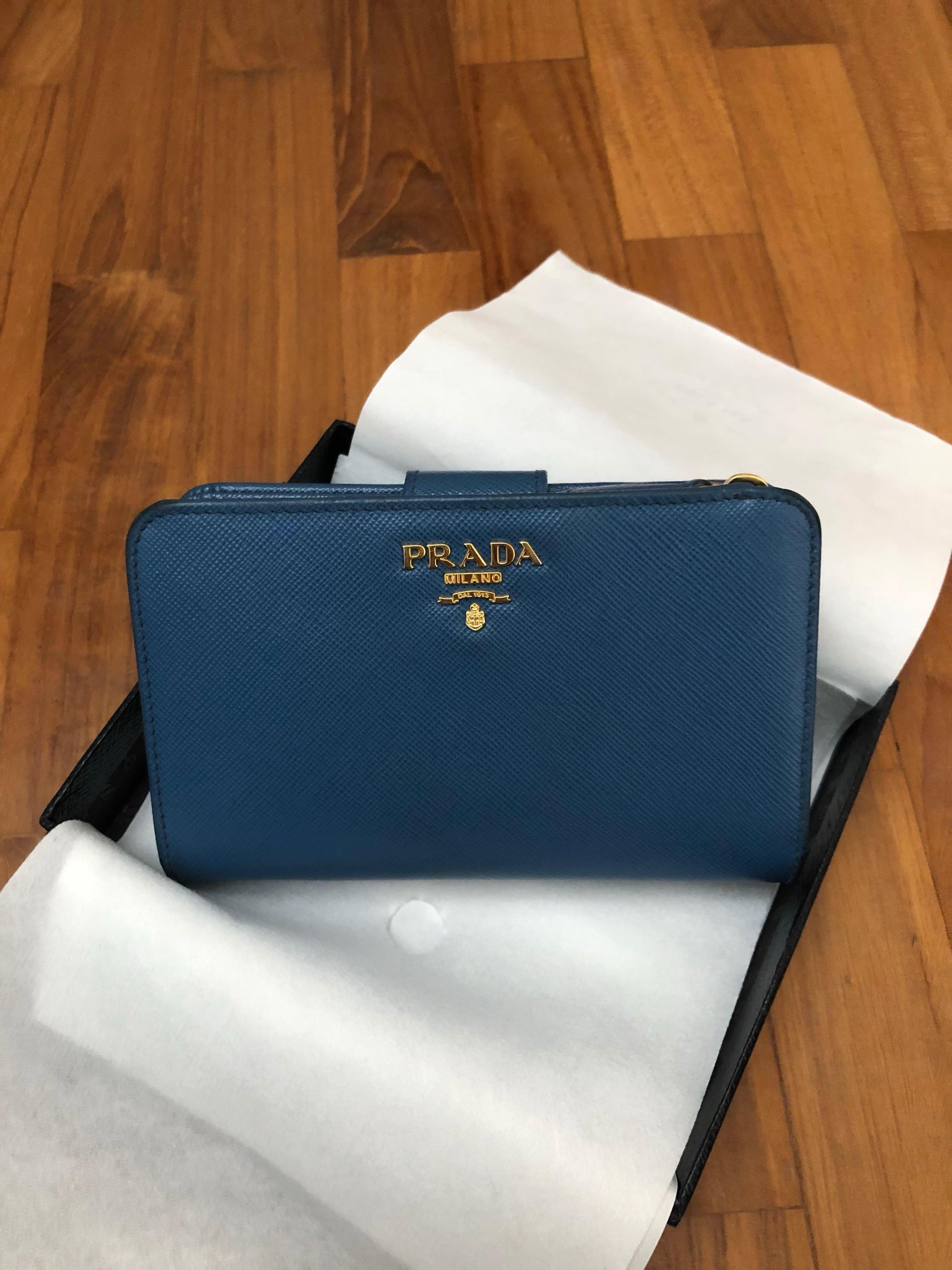 best value diversified latest designs on feet at Prada Medium Saffiano Leather Wallet, Luxury, Bags & Wallets ...