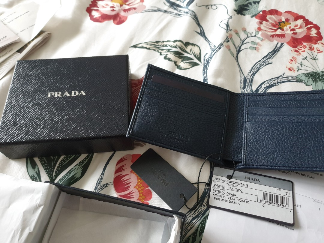 d0600dca83d9 Prada Men Wallet 2MO513, Luxury, Accessories, Others on Carousell