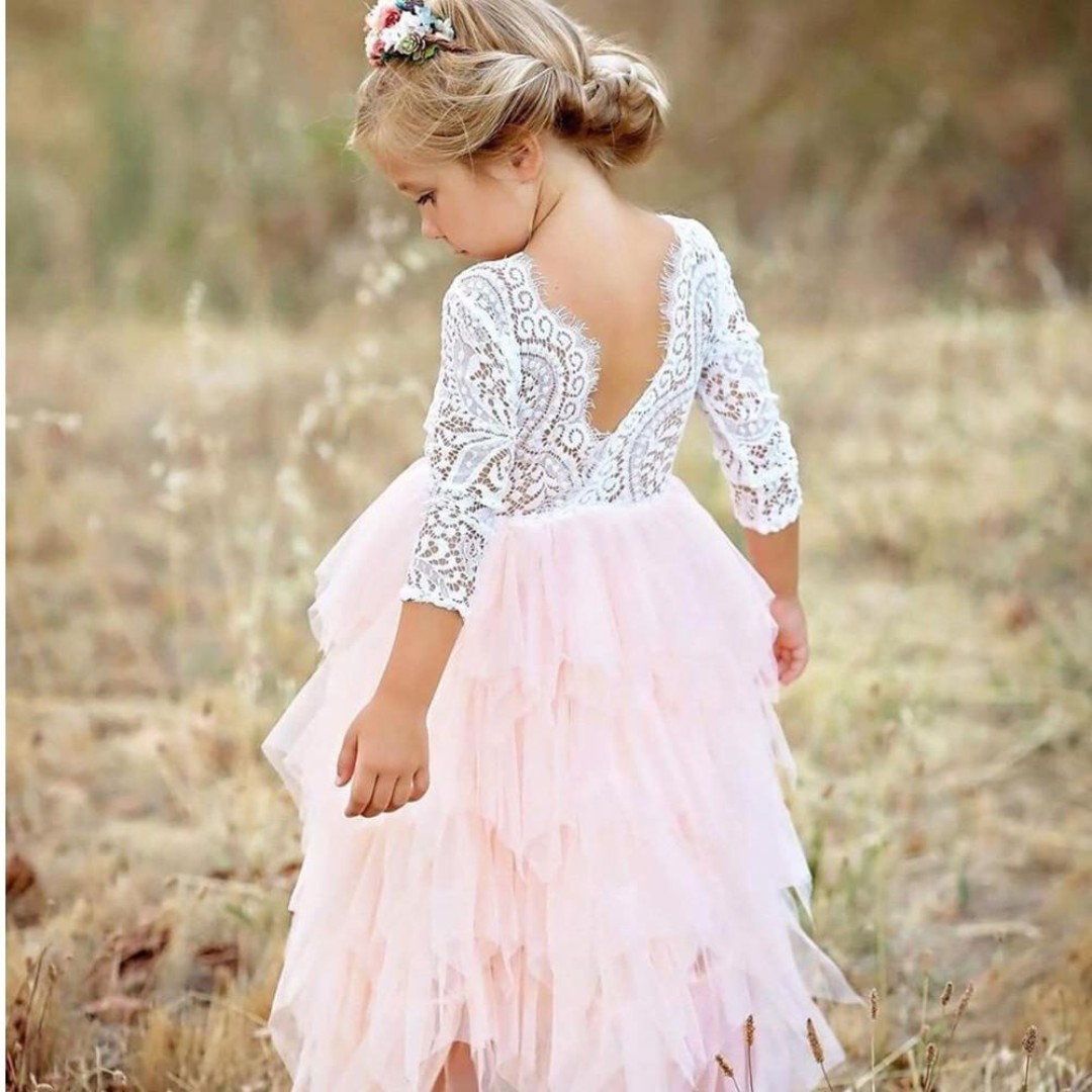 2018 Communion Party Prom Princess Pageant Bridesmaid Wedding Flower Girl Dress