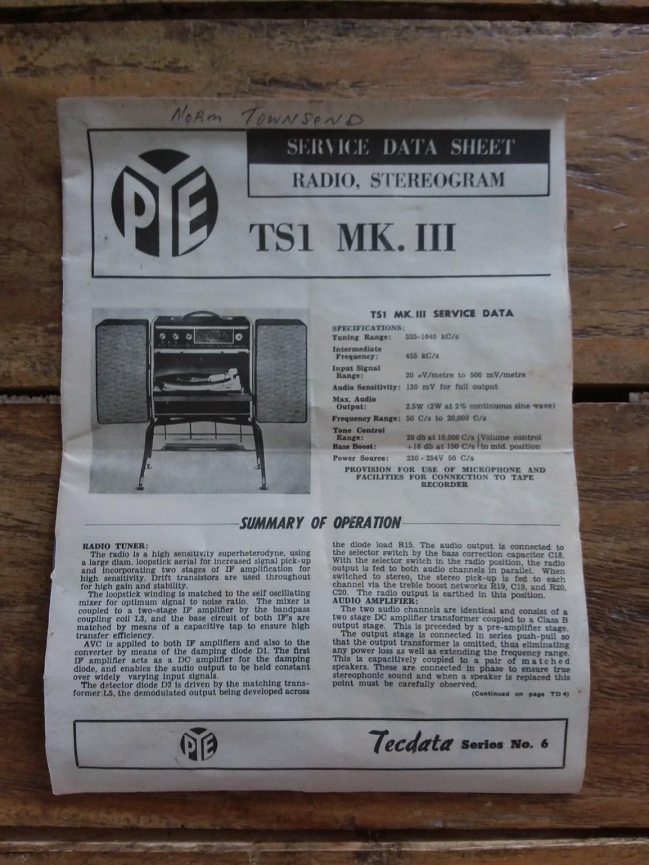 PYE Blackbox Vinyl Record Player Vintage Retro