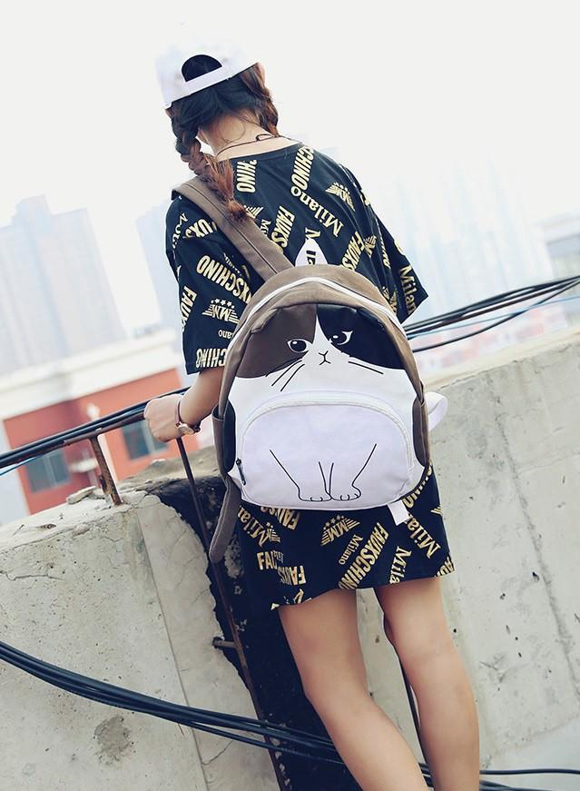 Ransel import zara coklat cat Stradivarius pullbear tas punggung sekolah backpack korea murah