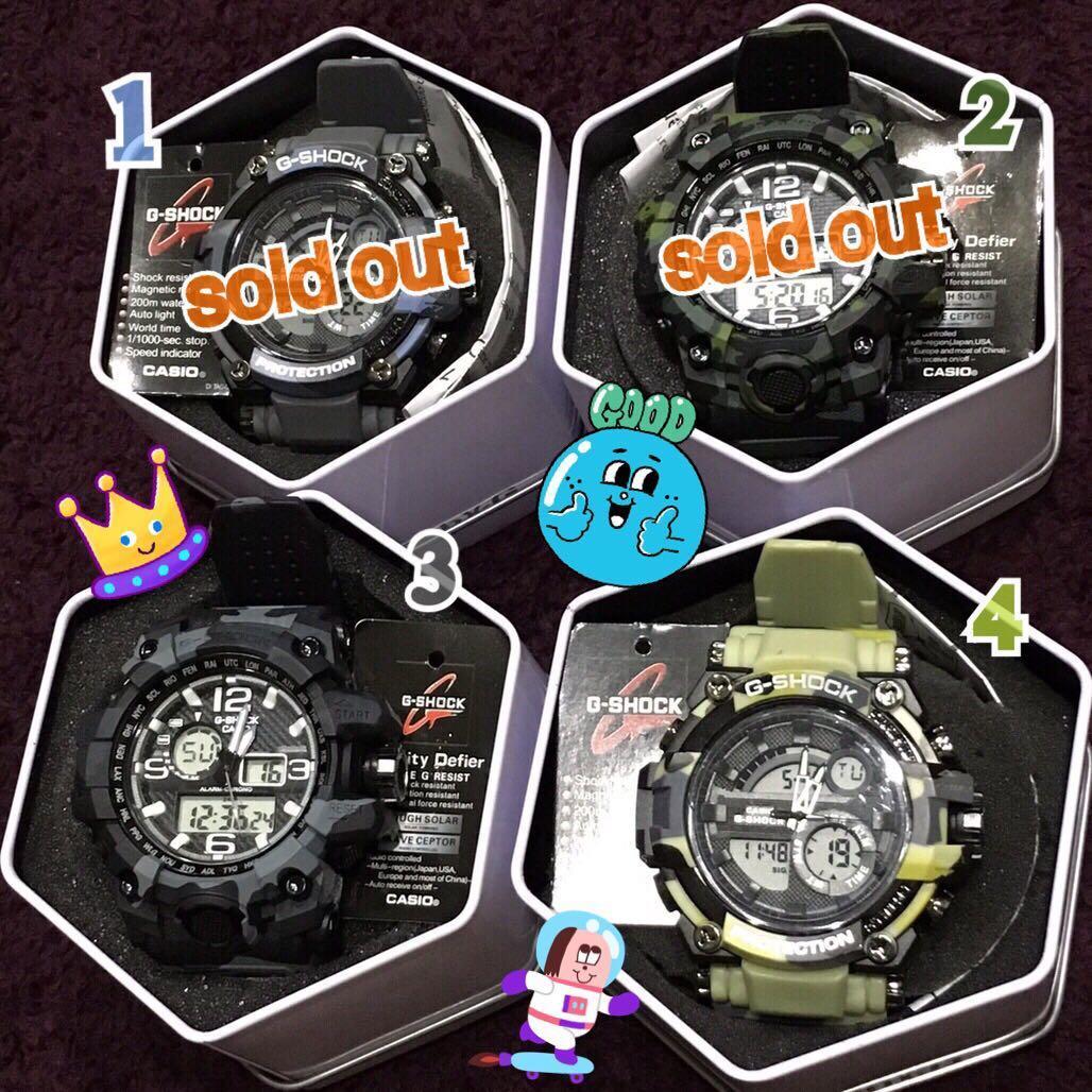 sale🔪🔪claw machine(brand new)cold light watch 娃娃機出貨 全新未使用 g-shock casio 運動款冷光手錶⌚️迷彩特別款