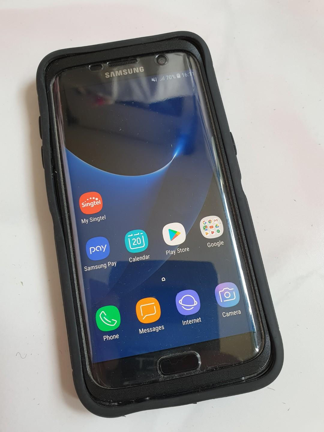 Samsung S7 edge + otterbox defender casing. 100% working, Mobile Phones & Tablets, Android Phones, Samsung on Carousell