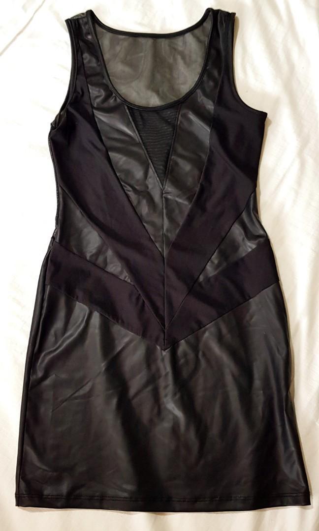 Seductive Black Mesh Dress