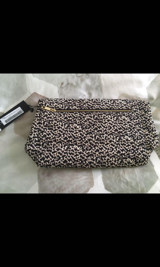 Shona Joy 'theory' fold over clutch bag, leopard print